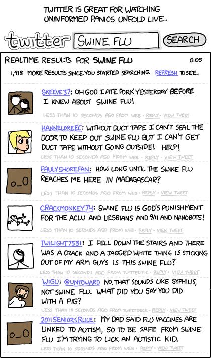 Swine flu on twitter